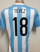 NEW!!! 2015 ARGENTINA CLIMACOOL HOME SOCCER JERSEY TEVEZ # 18
