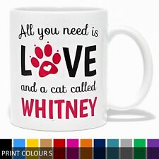 Personalised All You Need Is Love & A Cat Called Mug
