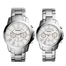 Fossil Analog Casual Unisex   Silver US Watch FS5124SET