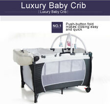New All in 1 Portable Travel Cot Playpen Bassinet Rocker Toy Insect Net