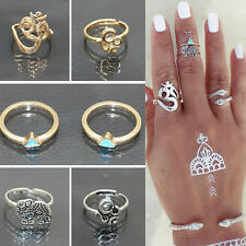 Fashion Silver/Gold Knuckle Ring Set Knuckle Ring Women Bohemian Vintage Jewelry