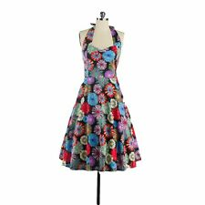 New 1950s 60s Vintage Womens Charming Floral Print Cocktail Gown Party Dress