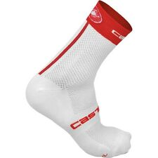 Castelli Free 9 cm Summer/Autumn Cycling Socks for Men 4513040-231- White/Red