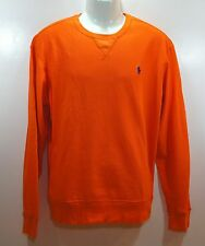 POLO RALPH LAUREN Mens Crewneck Sweater Long Sleeve Orange size sz S M L NEW NWT