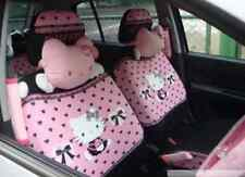 12 PCs Hello Kitty UNIVERSAL Car Seat Covers Front Rear Cover Accessory Set