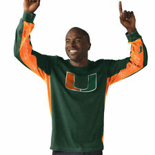 Hands High Miami Hurricanes Green/Orange Hail Mary Long Sleeve Fashion T-Shirt