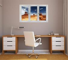 Window Landscape Nature View MONUMENT VALLEY USA #1 Wall Graphic Decal Sticker