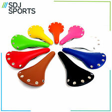 RIVETED ROAD BIKE SADDLE FIXIE SINGLESPEED FIXED GEAR BICYCLE CYCLE SEAT RIVETS