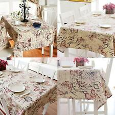 British Style Tablecloth Floral Print Square/Rectangular Table Cover Home Party
