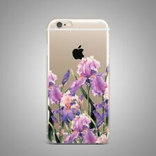 Flowers Floral Custom Design TPU Silicone Rubber Clear Case Cover for iPhone
