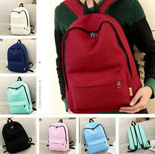 Vintage Canvas Backpack Rucksack Laptop Satchel Shoulder Bag Travel Camping Bag