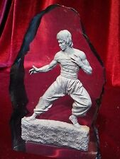 """Bruce Lee Statue """"Star of the Century""""  Polyester resin JKD Hong Kong"""
