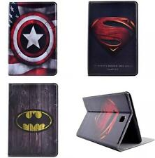 Super Hero Artificial Leather Flip Case Cover Kids For Apple Samsung Tablet PC