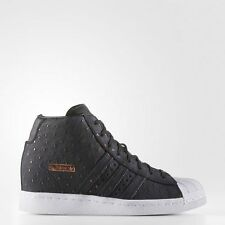New adidas Originals SUPERSTAR UP Studded Shoes Black White S76403 stan smith