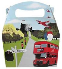 'UNION JACK' LONDON THEME CHILDRENS BIRTHDAY PARTY LUNCH BOX FOOD GIFT FROM 35P