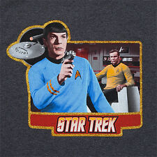 Star Trek Spock Leonard Nimoy Charcoal Heather Ringer T-shirt