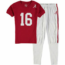 Wes & Willy Alabama Crimson Tide Youth Crimson Football Pajama Set