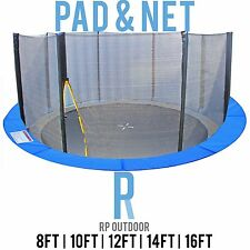 NEW Replacement Trampoline Safety Pole Net & Pad Round Spare 8ft 10ft 12ft 14 16