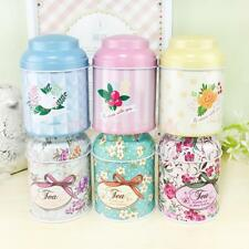 6 Pattern Flower Metal Sugar Coffee Tea Tin Jar Container Candy Sealed Can Box