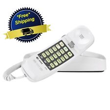 AT&T 210M Corded Phone Desk Wall Mount Trimline Telephone Handset White Home NEW