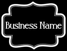 Your Shop Name Custom Personalized Business Name Window Decal Sign Glass