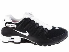 NEW MENS NIKE SHOX NZ RUNNING SHOES TRAINERS BLACK / WHITE / WOLF GREY / WHITE