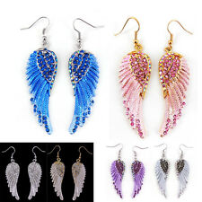 Details about  Lovely Angel Wing 5.5cm Long Use Swarovski Crystal Dangle Earring