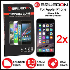 2x GENUINE BRUEDON 9HR Apple iPhone 6 6s Plus Tempered Glass Screen Protector