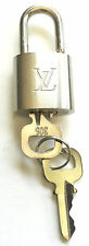 AUTHENTIC LOUIS VUITTON PADLOCK & 2 KEYS #305 MADE IN PARIS SILVER LOCK ~ NEW ~