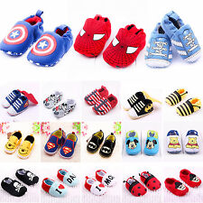 Infants Baby Boys Girls Soft Sole Prewalker Slip On Shoes Anti-Slip Sneaker New