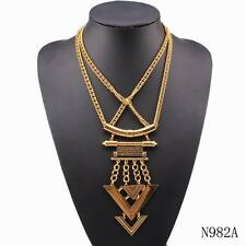 gold necklace bib chain alloy cheap statement pendant necklace for women jewelry