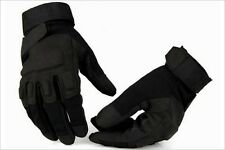 Tactical Airsoft Hunting Motorcycle Carbon Black Knuckle Full Finger Gloves