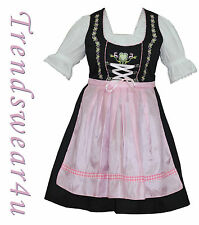 German Ladies Trachten Bavarian Oktoberfest Dress 3 Pcs Pink Women Dirndl - 465