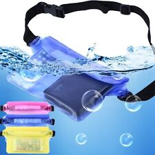 Waterproof Bag Underwater Dry Pouch Waist Pack Swim/Beach Case For Cell Phone