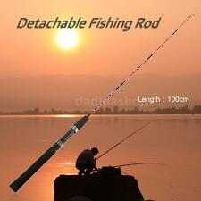 1m/0.8m 2 Sections Solid Fishing Rod Ice Fishing Rod Boat Rod Pole Tackle T8L2