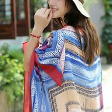 Sexy Women Dress Sarong Beach Bikini Swimwear Cover Up Long Scarf Wrap Shawl