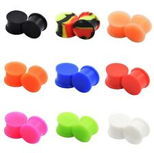 2pcs/18pcs-Large Solid Silicone Ear Gauge-Glow in the Dark Ear Plugs Stretcher