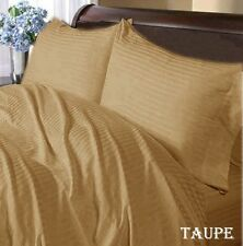 "1000TC 100%Egyptian Cotton Duvet Set/Sheet Set/Fitted""Color Taupe Stripe"