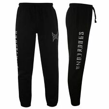 New 2 x Pairs Of TAPOUT Men's Underdogs Fleece Track Pants | Black RRP $109.90
