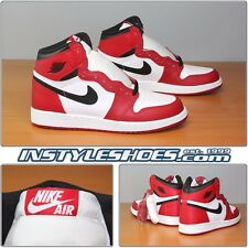 Nike Air Jordan 1 OG High GS 2015 Retro Chicago Banned 575441-101 Grade School