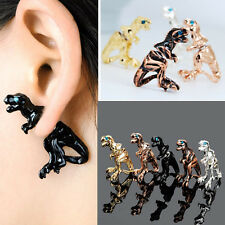 New Lady Gothic Punk Rock Temptation Dinosaur Dragon Ear Wrap Cuff Clip Earring