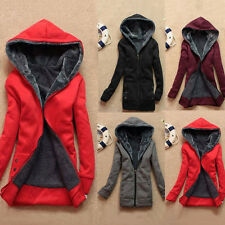 2016 Womens Winter Warm Outwear Coat Hooded Thick Coat Jacket Cotton Blend