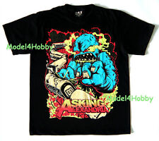 ASKING ALEXANDRIA T-Shirt Black Size M L XL METALCORE MONSTER DEVIL TRAIN TATTOO