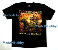 IRON MAIDEN T-Shirt Black Sz M L XL DEATH ON THE ROAD HEAVY METAL SKULL CARRIAGE