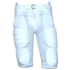 Youth Football Pants for Snap Pads in White, Grey, or Black (Without Pads)