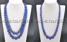 D0291 16mm Natural Blue lapis lazuli Round Bead Tower Necklace