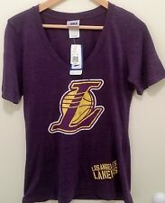 NWT Women's NBA Los Angeles Lakers Purple V-Neck Jersey T-Shirt