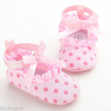 Toddler Baby Girls Pink Dot Princess Shoes Soft Sole Baby Shoes for 0-18month