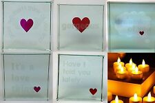 Crystal Glass message Token Love Romantic Gesture Xmas Wedding Romantic Gift
