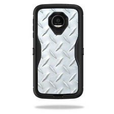 Skin Decal Wrap for OtterBox Defender Moto Z Force Droid Diamond Plate